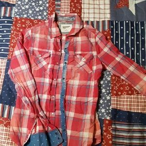 Plaid Pearl Snap Shirt